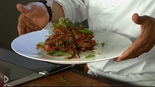 Смотреть онлайн Говяжья вырезка на гриле с соусом из вок сковороды