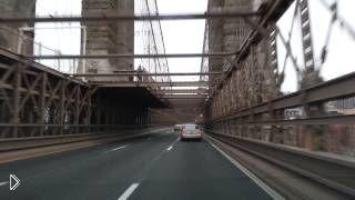 Смотреть онлайн Путешествие по Нью Йорку:с Бродвея в Бруклин на авто
