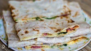 Как приготовить горячие бутерброды в тонком лаваше - Видео онлайн