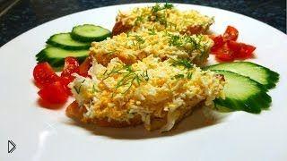 Смотреть онлайн Рецепт как сделать бутерброд с яйцом и чесноком