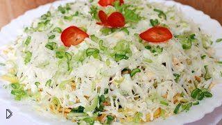 Смотреть онлайн Рецепт салата Диер с картофелем и огурцом
