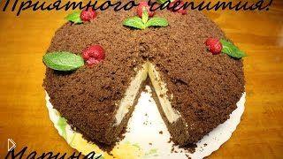 Смотреть онлайн Рецепт торта с бананами «Норка крота» в мультиварке