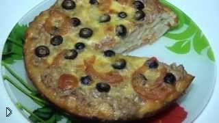 Смотреть онлайн Как приготовить вкусную домашнюю пиццу в мультиварке