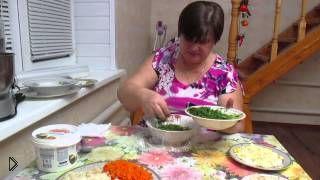 Смотреть онлайн Пошаговое приготовление салата «Грибная поляна»
