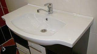 Смотреть онлайн Правильная установка раковины и тумбы в ванной
