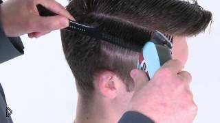 Смотреть онлайн Урок стрижки: как делать мужскую прическу сайкобилли