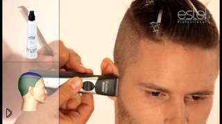 Смотреть онлайн Мужская стрижка с выбритыми висками