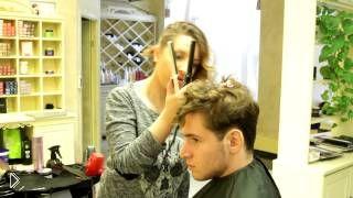 Смотреть онлайн Как сделать стильные укладки мужской стрижки