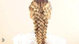 Как сделать прическу из двух пятипрядных кос - Видео онлайн