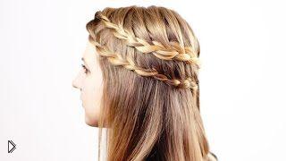 Смотреть онлайн Украшение распущенных волос косичками