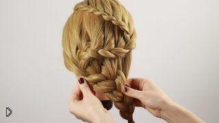 Смотреть онлайн Подробный способ плетения косы