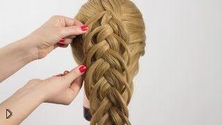 Смотреть онлайн Оригинальна коса с двойным похватом