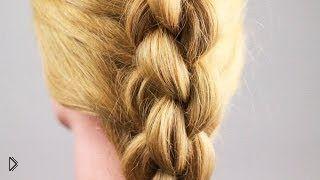 Смотреть онлайн Обучающий урок по плетению косички 3D