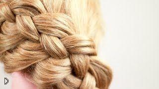 Диагональная коса из четырех прядей - Видео онлайн