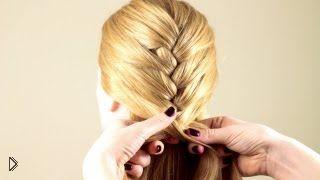 Смотреть онлайн Обычная французская коса: урок плетения