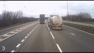 Подборка: Аварии с грузовиками, слепая зона - Видео онлайн
