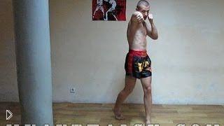 Смотреть онлайн Урок тренировка техники тайского бокса для начинающих