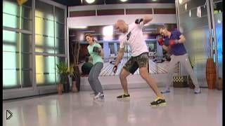Смотреть онлайн Урок фитнеса: боевая аэробика