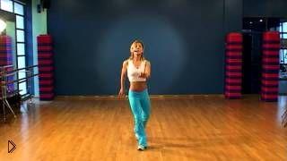 Смотреть онлайн Урок танцевальной аэробики в джазовом стиле