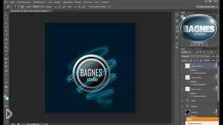 Смотреть онлайн Как сделать логотип в фотошопе