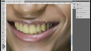 Смотреть онлайн Как в фотошопе отбелить зубы