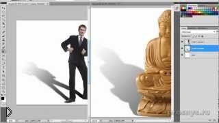 Как сделать и добавить тень объекта в фотошопе - Видео онлайн