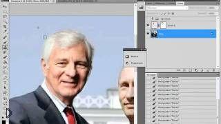 Смотреть онлайн Быстрая замена лица в фотошопе