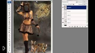 Как в фотошопе вырезать и вставить лицо в шаблон - Видео онлайн