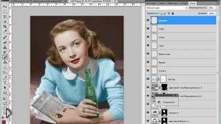 Смотреть онлайн Как сделать в фотошопе фотографию цветной