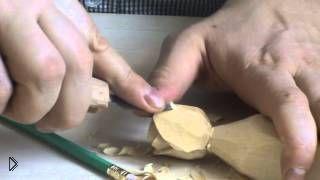 Смотреть онлайн Мастер класс: как вырезать своими руками розу из дерева
