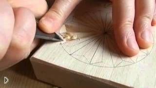 Геометрическая резьба розетки по дереву - Видео онлайн