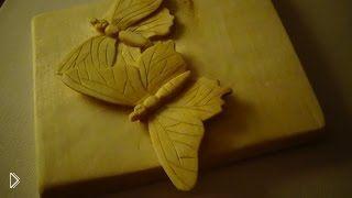 Резьба бабочки по дереву для начинающих - Видео онлайн