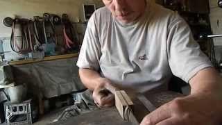 Смотреть онлайн Изготовления рукояти ножа из дерева