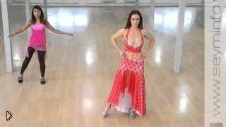 Смотреть онлайн Урок красивого арабского танца для начинающих