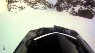 Опасное падение с горы, вид от первого лица - Видео онлайн