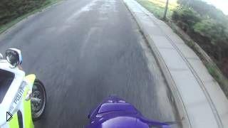 Смотреть онлайн Захватывающая погоня за нарушителем на скутере
