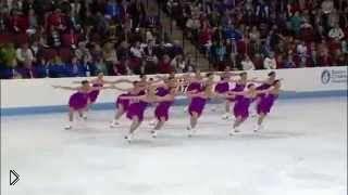 Смотреть онлайн Синхронное катание на льду команды США, 2013