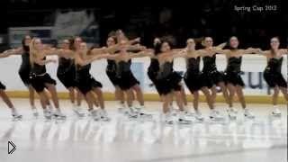 Смотреть онлайн Синхронное фигурное катание: команда Швеции 2013