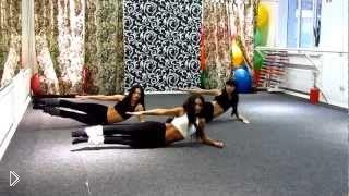 Смотреть онлайн Калланетика как танец: выступление девушек