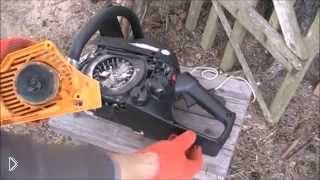 Смотреть онлайн Как отремонтировать шнур стартера бензопилы