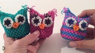 Большие 3d совы из резинок, плетем крючком - Видео онлайн