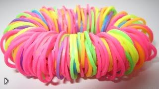 Смотреть онлайн Простейший браслет Лентяй, плетем без станка