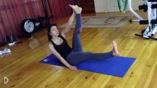 Смотреть онлайн Упражнение в пилатесе на пресс