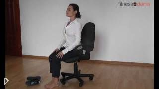 Смотреть онлайн Зарядка пилатес в офисе, снимаем стресс