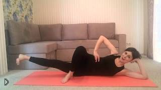 Смотреть онлайн Боковые упражнения для стройности ног: пилатес