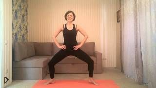 Смотреть онлайн Делаем ноги стройными, приседания в пилатесе