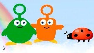 Смотреть онлайн Развивающий мультфильм для детей до года, Пузырики