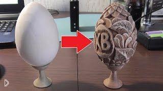 Смотреть онлайн Украшаем деревянное яйцо к пасхе, резьба по дереву