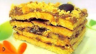Смотреть онлайн Рецепт сливочного торта «Сладкая фантазия»