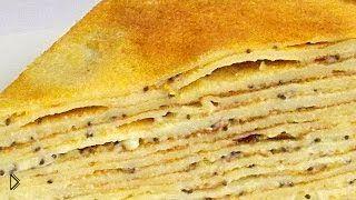 Смотреть онлайн Блинный торт с заварным кремом